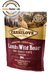 Carnilove Lamb & Wild Boar Sterilised Cat Adult 400g
