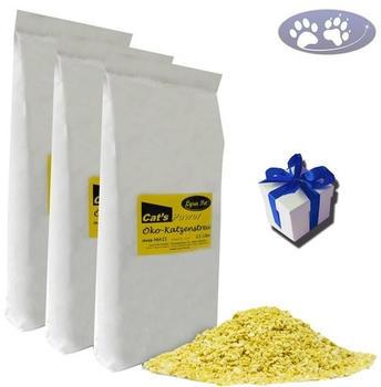 Lyra Pet Cats Power Öko Katzenstreu 3x15l + Geschenk