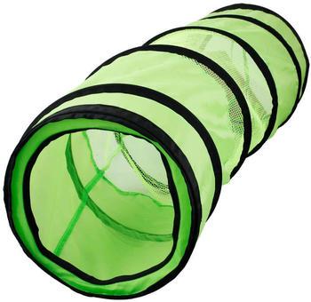 Karlie Katzentunnel grün-schwarz, Maße: 136 cm