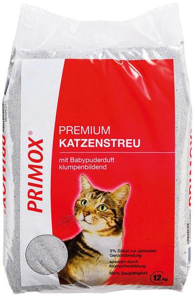 Primox Premium Katzenstreu mit Babypuderduft 12kg