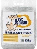 Cat & Clean Brilliant Plus mit Silikat und Babypuderduft 15 kg