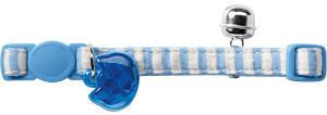 Hunter HUNTER Katzenhalsband Cotton Stripes hellblau