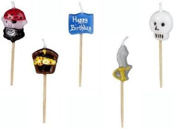Papstar Geburtstagskerzen 6,5 cm Boys 5-Stk.