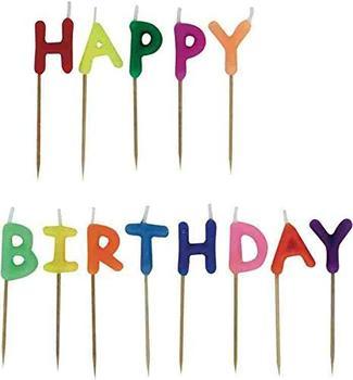 TOPPOINT Geburtstagskerzen Set Happy Birthday