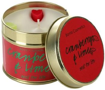 Bomb Cosmetics Cranberry and Lime Tin Candle