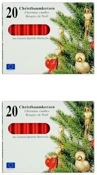 Idena Weihnachtsbaumkerzen 20-Stk. rot (408680)