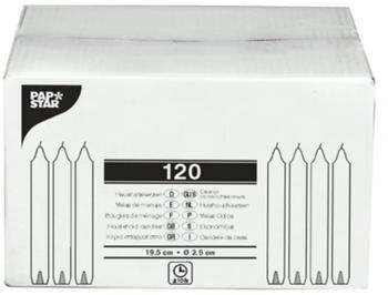Papstar Haushaltskerzen mit Dornloch 2,45cmx20cm weiß (Karton) (13870/100)