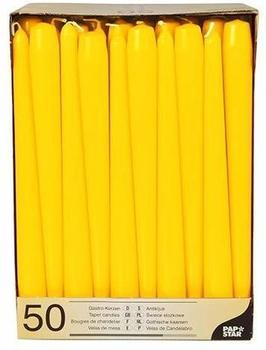 Papstar Leuchterkerzen 2,2x25cm gelb (Karton) (17970/100)