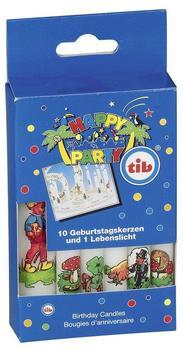 TIB-Heyne Geburtstagskerzen Glückssymbole 11-Stk.