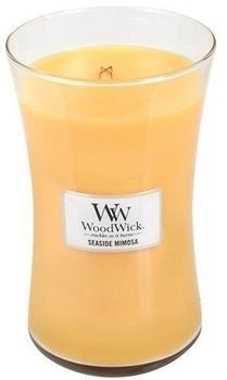 WoodWick Duftkerze im Glas mit Holzdeckel Mimosa Zitrus und Champagner (93085)