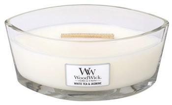 WoodWick Tee und Jasmin HearthWick Flame Duftkerze im Glas 454g weiß 19,5x11,4x8,8cm (76062EU)