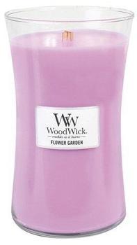 WoodWick Blumengarten große Duftkerze Classic mit Holzdeckel 609,5g Glas rosa 10,1x10,6x17,7cm (93097EU)