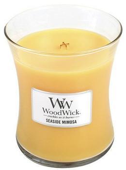 WoodWick Duftkerze im Glas mit Holzdeckel Mimosa Citrus und Champagner (92085)