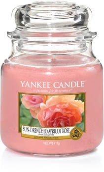 Yankee Candle Sun-Drenched Apricot Rose Mittelgroße Kerzen im Glas (1577134E)