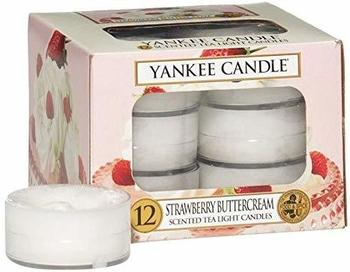 Yankee Candle Teelichter 12-Stk. Strawberry Buttercream 9,8g