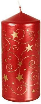 Papstar Little Stars lackiert 6x13cm rot (81300)