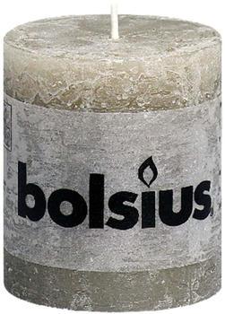 Bolsius Rustic Stumpenkerze 80/68mm grau