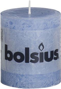 Bolsius Rustic Stumpenkerze 80/68mm jeansblau