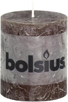 Bolsius Rustic Stumpenkerze 80/68mm schokobraun