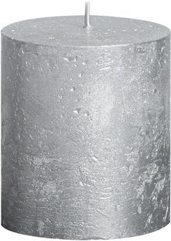 Bolsius Rustic Stumpenkerze 80/68mm metallic silber