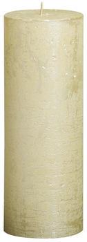 Bolsius Rustic 190/68mm metallic elfenbein