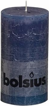Bolsius Rustik 13x6,8cm dunkelblau