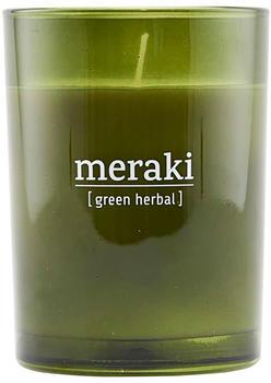 Meraki Duftkerze Ø8 x10 cm 35h Green Herbal