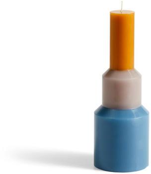 HAY Pillar Candle Blue/Grey/Orange