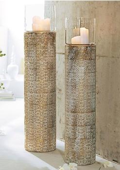 Mailord Collection Bodenwindlicht 113cm weiß/goldfarben