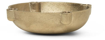 Ferm Living Bowl Candle Holder klein Ø14,6cm gold (1104263162)