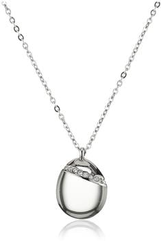 Skagen Sea Glass Silver-Tone Crystal Necklace (SKJ0176P)