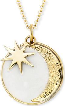 Engelsrufer Kette Sonne, Mond & Stern Gold mit Emaille (ERN-MOON-PE-G)