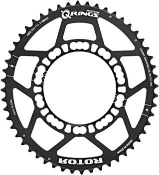 Rotor Q-Ring Road Chainring 110mm 5-Arm außen black 50T