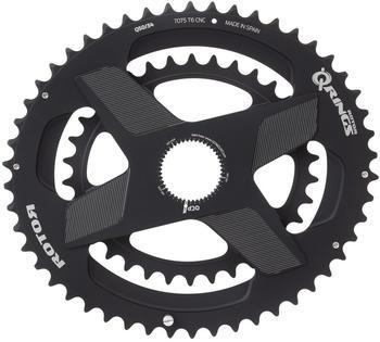 Rotor Aldhu Direct-Mount Doppel-Chainring oval black/matt 52/36T