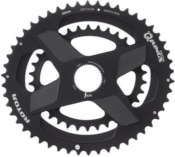 Rotor Aldhu Direct-Mount Doppel-Chainring oval black/matt 46/30T