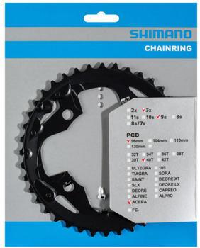 Shimano Acera FC-M3000 Chainring 9-fach AX black 40T