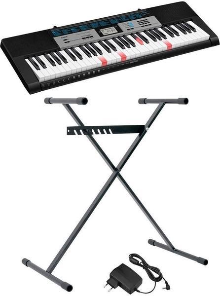 Casio Keyboard LK-136SET Schwarz inkl. Netzteil, inkl. Stativ, Leuchttasten
