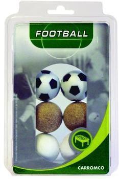 Carromco Kickerbälle 2x schwarz-weiß 2x weiß kork-natur