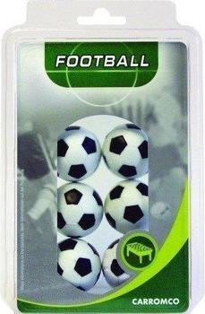 Carromco Kickerbälle 6 x schwarz-weiß