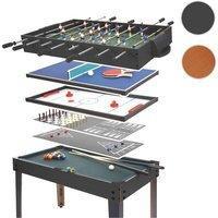 Mendler Tischkicker HWC-E12, Tischfussball Billard Hockey 7in1 Multiplayer Spieletisch, 82x107x60cm ~ schwar