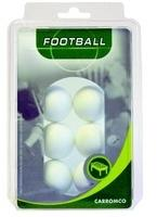 Carromco Kickerbälle 6er Pack weiß (62106)