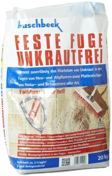 Buschbeck Feste Fuge Unkrautfrei 20kg natur hell