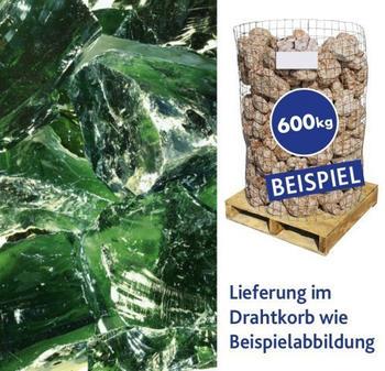 Hamann Glasbrocken grün 100-400 mm 600 kg