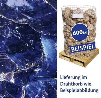 Hamann Glasbrocken dunkelblau 100-400 mm 600 kg