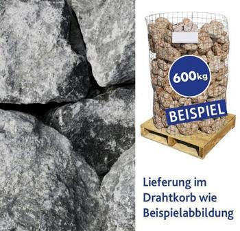 Hamann Basaltbrocken Eifel schwarz 100-300 mm 600 kg