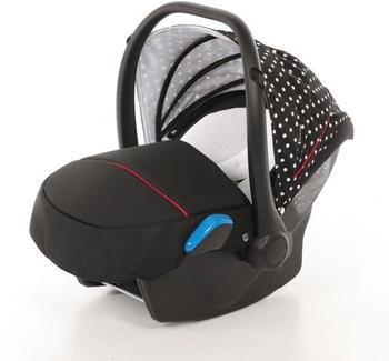 knorr-baby-babyschale-milan-voletto-tupfen-schwarz-weiss-schwarz