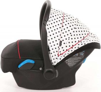 knorr-baby-babyschale-milan-voletto-tupfen-weiss-schwarz-schwarz