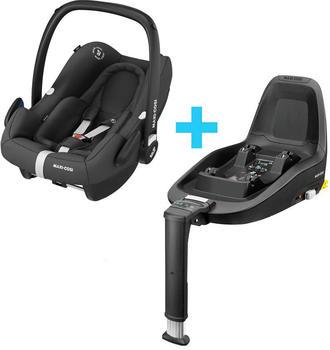 Maxi-Cosi RRock i-Size Babyschale + FamilyFix One i-Size Basis essential black