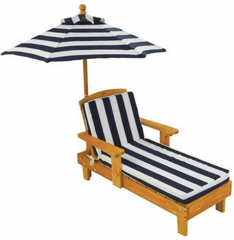 KidKraft Liegestuhl mit Sonnenschirm marineblau (00105)