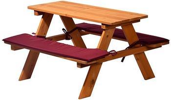 Dobar Picknicktisch Holz 89x79x50 cm braun (94353FSC)